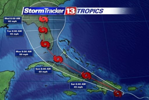 Storm Erika and Cuba
