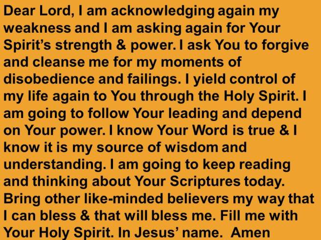 Holy Spirit Prayer English