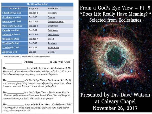 The Sermon Study Guide and Bulletin from tomorrow's service
