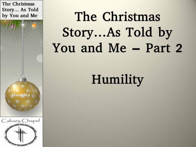 the christmas stort as told by you and me 2 message