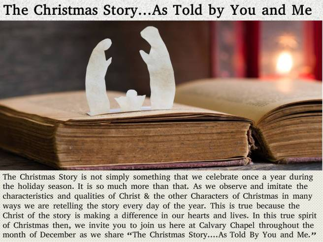 The Christmas Story as told by me and you