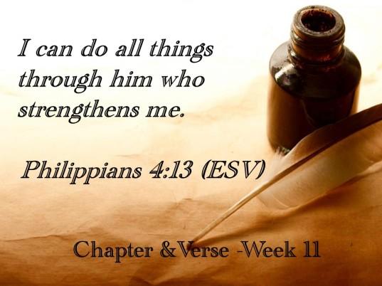 C&V memory verse week 11