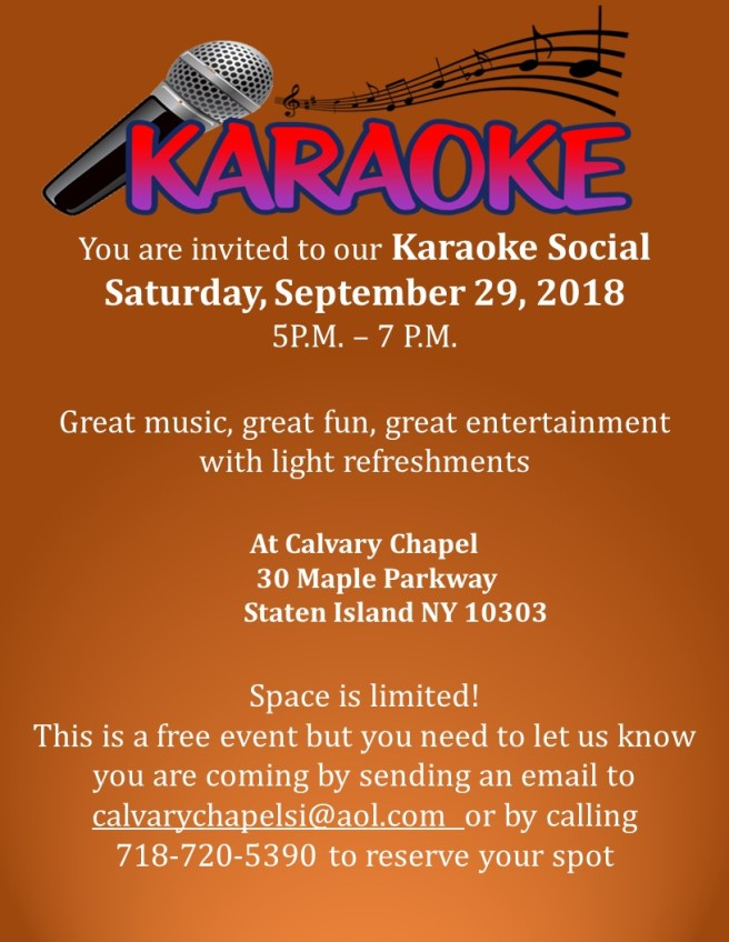 karaoke social sept 2018
