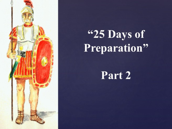 25 days of preparation - Part 2